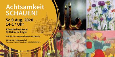 <b>Achtsamkeit SCHAUEN! – KünstlerFest Areal Stiftskirche Enger</b> So 9.Aug 2020 14-17 Uhr